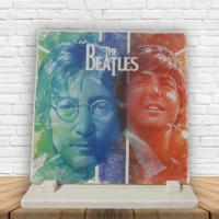 "KFBiMilyon The Beatles ""The Legends ""Baskılı Doğaltaş Masa Dekoru"