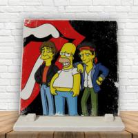 "KFBiMilyon The Rolling Stones ""The Simpsons"" Baskılı Doğaltaş Masa Dekoru"