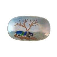 Vago Minds Porselen Üzeri Füzyon Cam / Ağaç Motifli