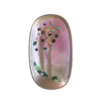 Vago Minds Porselen Üzeri Füzyon Cam / Boncuklu Ağaç
