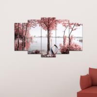 Bunjee 5 Parça Nehir Dekoratif Tablo 100x60 Cm