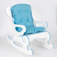 Prado Sallanan Çocuk Sandalyesi Sallanan Koltuk Minderli Mavi