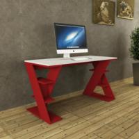 Decortie Papillon Çalışma Masası Beyaz-Kırmızı