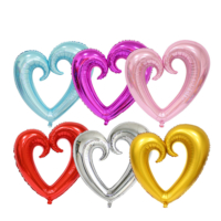 Tahtakale Toptancısı Kalp Folyo Balon Ortası Açık