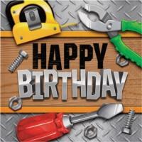 Alins Handyman Happy Birthday Partisi Peçete 33X33 Cm 16 Adet