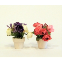 İkili Minik Çiçek Mor Pembe