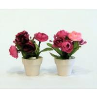 İkili Mini Çiçek Bordo Pembe