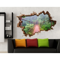 3D Art Asma Köprü 2 – 3D Sticker 135x90 cm