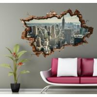 3D Art Manhattan – 3D Sticker 135x90 cm