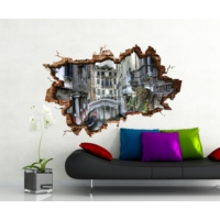 3D Art Venedik Kanal – 3D Sticker 135x90 cm