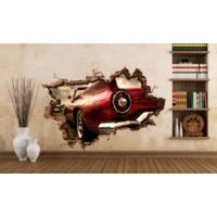 3D Art Klasik Araba 2 – 3D Sticker 150x100 cm