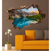 3D Art Buzul Göl – 3D Sticker 70x45 cm