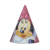 Partypark Minnie Mouse Parti Şapkası (8 Ad)
