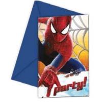 Partypark Örümcek Adam Doğum Günü Davetiye (8 Adet)