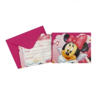 Partypark Minnie Mouse Doğum Günü Davetiye (8 Adet)