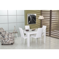 Mobetto Carnaval Masa Sandalye Seti – Beyaz