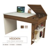 Sembol Mobilya Dekoratif Hidden Pc Çalışma Masası - Kitaplık
