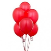 Sweetsorcery Kırmızı Metalik Balon 8'Li