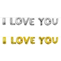 Sweetsorcery Gümüş Yaldız I Love You Folyo Balon