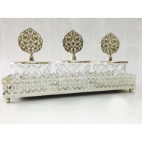 Dreamhome Tepsili Üçlü Baklava Kesme Çerezlik Set Gümüş