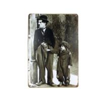 T-Bek Dekoratif Vintage Metal Pano Chaplin 20X30