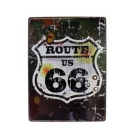 T-Bek Vintage Metal Pano Route 66 30X40