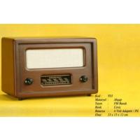 Otantik Çarşı Nostaljik Ahşap Radyo Büyük Boy