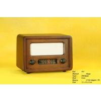 Otantik Çarşı Nostaljik Ahşap Radyo Düz Model (Manuel Kumandalı)