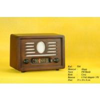Otantik Çarşı Nostaljik Ahşap Radyo (Manuel Kumandalı)