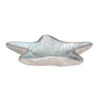 Loveq Dekoratif Deniz Yıldızı Şeklinde Seramik Tabak 18,5X16,5 Cm Drn-52685