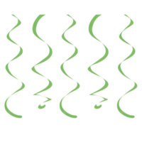 Loveq Süs Dalga Fıstık Yeşili 45,5 Cm 10'Lu Pk Drn-67866