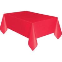 Partypark Plastik Masa Örtüsü Kırmızı