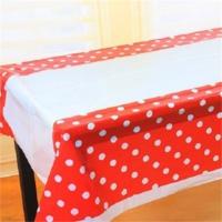 Partypark Plastik Masa Örtüsü Kırmızı Puanlı