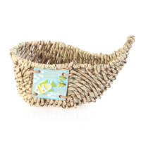 Kancaev Hasır Sandal Dekor/Çerezlik Balık Natürel Küçük