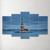 Plustablo Kız Kulesi 5 Parça Mdf Tablo 100X60 Cm