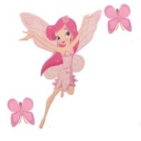 A'Favor Çocuk Odası Prenses Sticker Yapıştırma Prenses Kelebek Takımı