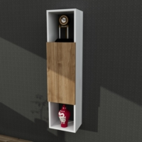 Dekorister Novella K4 Çok Amaçlı Asma Dolap Beyaz/Ceviz