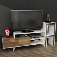 Dekorister Novella K1 Tv Ünitesi Beyaz/Ceviz