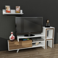 Dekorister Novella K15 Tv Ünitesi Beyaz/Ceviz