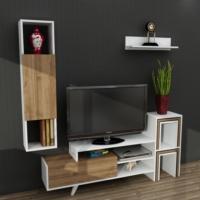 Dekorister Novella K145 Tv Ünitesi Beyaz/Ceviz