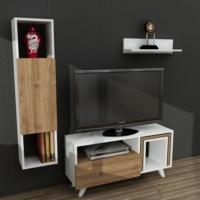 Dekorister Novella K245 Tv Ünitesi Beyaz/Ceviz
