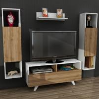 Dekorister Novella K3445 Tv Ünitesi Beyaz/Ceviz