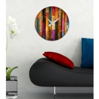 Insigne Renkli Tahtalar – Mdf Saat 39 Cm