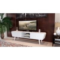 Sanal Mobilya Venedik Çekmeceli Bölmeli Tv Sehpası Beyaz