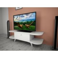 Ankara Mobilya Kelebek Aks Kapaklı Tv Sehpası Parlak Beyaz