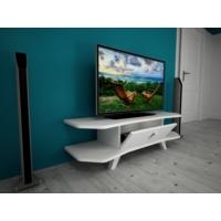 Ankara Mobilya Zet Aks Kapaklı Tv Sehpası Beyaz