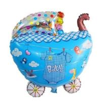 Partypark Baby Bebek Arabası Folyo Balon Mavi 65Cm