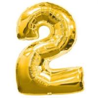 Partypark 2 Folyo Balon Altın 70Cm