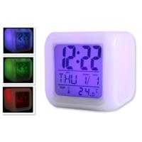 TveT 7 Renk Değiştiren Alarmlı Dijital Küp Saat