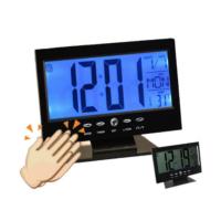 TveT Alkış Sensörlü Led Dijital Masa Saati Alarm ve Termometre Özellikli